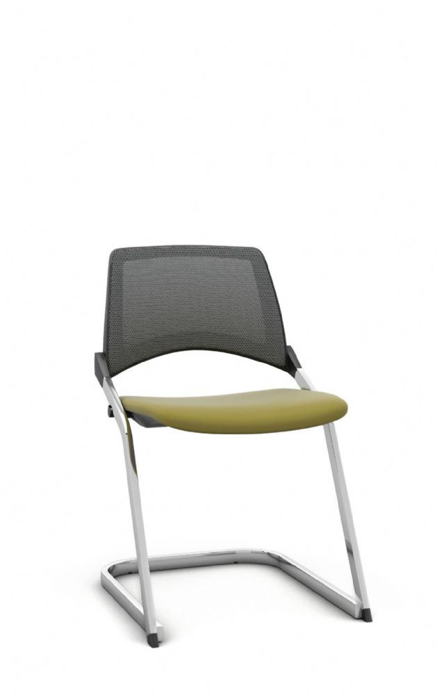 Pledge La Kendo Meeting Room Chair With Cantilever Base And Mesh Back